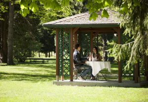 A gazebo in the hotel park is the ideal place to make yourself comfortable and linger awhile